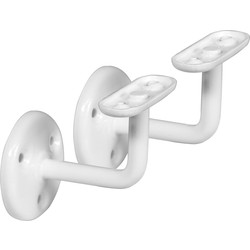 Eclipse Handrail Bracket White - 25278 - from Toolstation