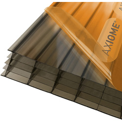 Axiome Axiome 25mm Polycarbonate Bronze Fivewall Sheet 690 x 4000mm - 25364 - from Toolstation