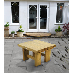 Forest Forest Garden Low Level Sleeper Table 45cm (h) x 70cm (w) x 70cm (d) - 25432 - from Toolstation