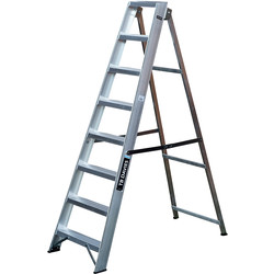 TB Davies TB Davies Industrial Swingback Step Ladder 8 Tread SWH 2.9m - 25440 - from Toolstation