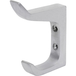 Satin Aluminium Architectural Hat & Coat Hook