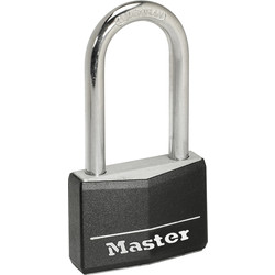 Master Lock Master Lock Black Covered Aluminium Padlock 40 x 6 x 51mm Extra LS - 25539 - from Toolstation