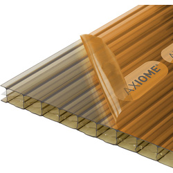 Axiome Axiome 16mm Polycarbonate Bronze Triplewall Sheet 690 x 5000mm - 25540 - from Toolstation