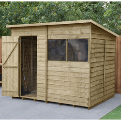 Forest Forest Garden Overlap Pressure Treated Shed 8' x 6' - 25544 - from Toolstation