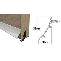 Stormguard Stormguard Rain Deflector White 32mm - 25546 - from Toolstation