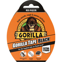 Gorilla Cloth Duct Tape Black 48mm x 11m