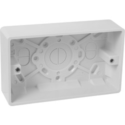 Scolmore Click Click Mode Moulded Box 2 Gang 35mm - 25597 - from Toolstation