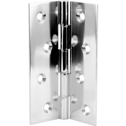 Eclipse Double Phosphor Bronze Washered Hinge Chrome 76 x 50mm - 25637 - from Toolstation