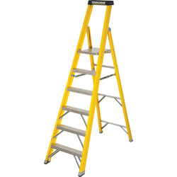 Youngman Youngman Fibreglass Platform Step Ladder 6 Tread SWH 3.16m - 25709 - from Toolstation