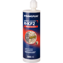 Rawlplug Rawlplug R-KF2- Polyester Resin with 2 Nozzles 380ml - 25736 - from Toolstation