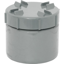 Aquaflow 110mm Screwed Access Cap Grey - 25751 - from Toolstation