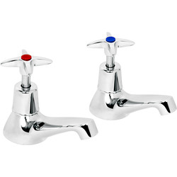 Deva Deva Cross Head Taps Bath - 25879 - from Toolstation
