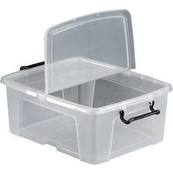 Barton Plastic Container with Hinged Folding Lid 24L - 25930 - from Toolstation