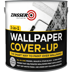 Zinsser Zinsser 3 in 1 Wallpaper Cover Up Paint Off White 2.5L - 25972 - from Toolstation