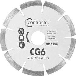 Spectrum Spectrum CG6 Mortar & Brick Raking Diamond Blade 115 x 22mm - 26138 - from Toolstation