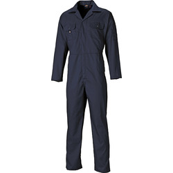 Dickies Dickies Redhawk Economy Stud Front Coverall Small Navy - 26216 - from Toolstation