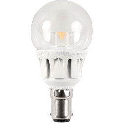 Meridian Lighting LED 5W Clear Globe Lamp SBC (B15d) 400lm - 26289 - from Toolstation