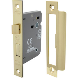 Unbranded Bathroom Mortice Lock 75mm Electro Brass - 26313 - from Toolstation