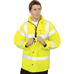 Equipment Hi Vis Highway Jacket Yellow Medium - 26355 - from Toolstation