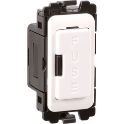Wessex Wiring Wessex Grid Switch Ancillaries White Fuse Holder - 26358 - from Toolstation