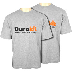 Durakit Durakit Hard Work T-shirt (Twin Pack) Med Heather Grey - 26474 - from Toolstation