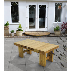 Forest Forest Garden Low Level Sleeper Table 45cm (h) x 123cm (w) x 60cm (d) - 26535 - from Toolstation