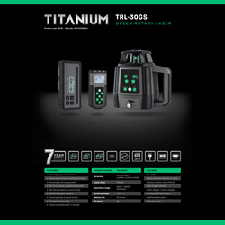 General Titanium TRL-30GS Rotary Laser Kit