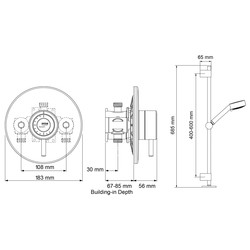 Mira Element BIV Thermostatic Mixer Shower