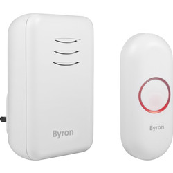 Byron Byron Wireless Plug In Doorbell Set DBY-22312UK - 26613 - from Toolstation