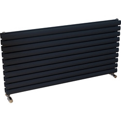 Ximax Ximax Bristol Designer Radiator 584 x 1200mm 3922Btu Double Anthracite - 26638 - from Toolstation