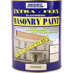 Bedec Bedec Extra-Flex Elastomeric Masonry Paint Gardenia 5L - 26738 - from Toolstation