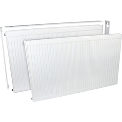 Barlo Delta Radiators Barlo Delta Compact Type 21 Double-Panel Single Convector Radiator 600 x 1800 8260Btu - 26758 - from Toolstation
