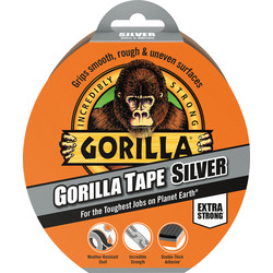 Gorilla Cloth Duct Tape Silver 48mm x 32m