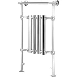 Qual-Rad Traditional Tubular Chrome Towel Radiator 4 Section - 26878 - from Toolstation