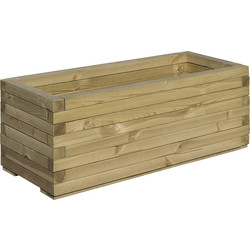 Rowlinson Rowlinson Rectangular Patio Planter 37cm (h) x 94.5cm (w) x 40cm (d) - 26968 - from Toolstation