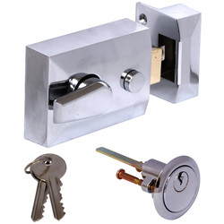 Deadlocking Nightlatch Chrome Standard