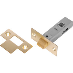 Unbranded Tubular Latch 63mm Brassed - 26987 - from Toolstation