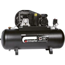 SIP SIP 06290 Oil Lubricated Belt Drive 150L 3HP Compressor 230V - 27063 - from Toolstation