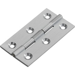 Carlisle Brass Cabinet Hinge 64 x 35 x 2mm Satin Chrome - 27113 - from Toolstation