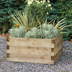 Forest Forest Garden Caledonian Square Raised Bed 42cm (h) x 90cm (w) x 90cm (d) - 27115 - from Toolstation