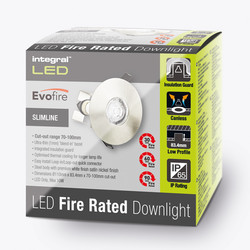Integral LED 70-100mm Cut Out Evofire IP65 Fire Rated Downlight