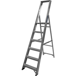 Lyte Ladders Lyte Industrial Platform Aluminium Step Ladder 6 Tread, Closed Length 2.08m - 27297 - from Toolstation