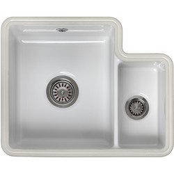 Reginox Reginox Undermount 1 1/2 Bowl Ceramic Kitchen Sink & Drainer White - 27310 - from Toolstation