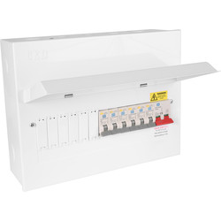 Axiom Metal 17th Edition Amendment 3 + 6 RCBOs Consumer Unit 12 Way - 27339 - from Toolstation