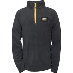 CAT Caterpillar Half Zip Micro Fleece Medium Black - 27360 - from Toolstation