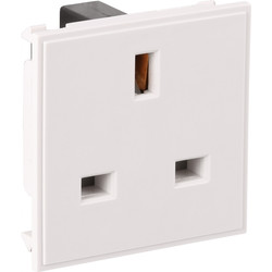 Euro Module Socket Outlet 13A White - 27415 - from Toolstation