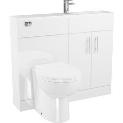 Cassellie 2 Door Slimline Bathroom Unit Gloss White - 27447 - from Toolstation