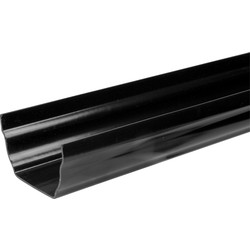 Aquaflow 120mm Ogee Gutter 12m Black 3m Lengths - 27457 - from Toolstation