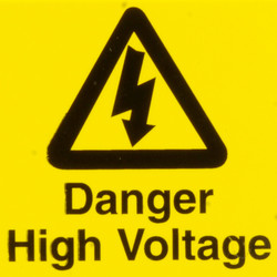 CED Electrical Warning Signs Danger High Voltage - 27466 - from Toolstation