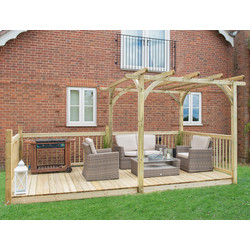 Forest Forest Garden Ultima Pergola and Patio Decking Kit 250cm (h) x 521cm (w) x 305cm (d) - 27470 - from Toolstation
